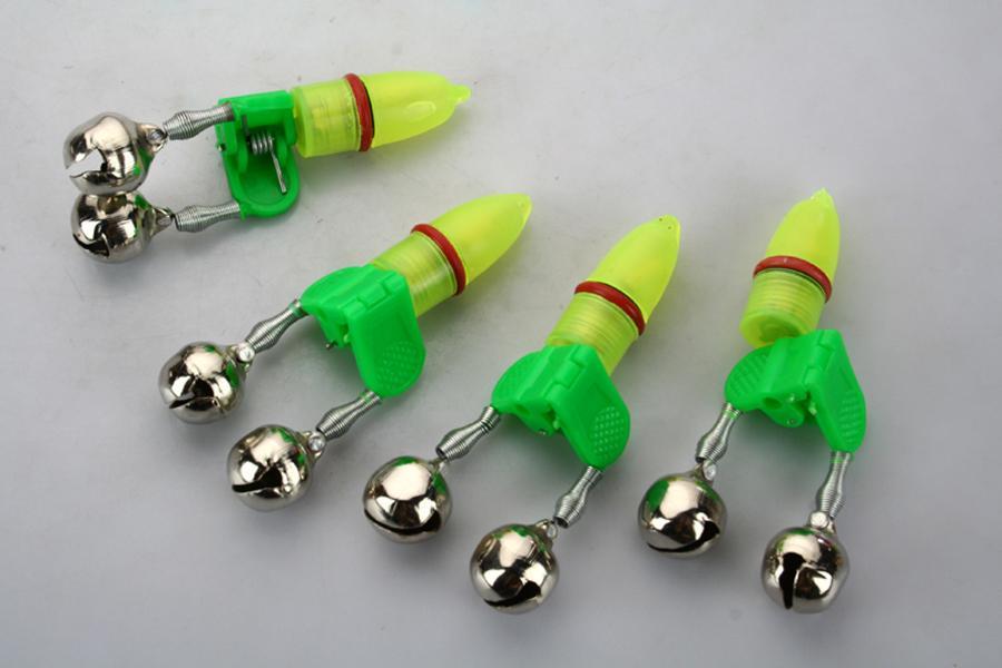 10 Pcs LED pesca gêmeo sino com Tip Luz Rod Alarm