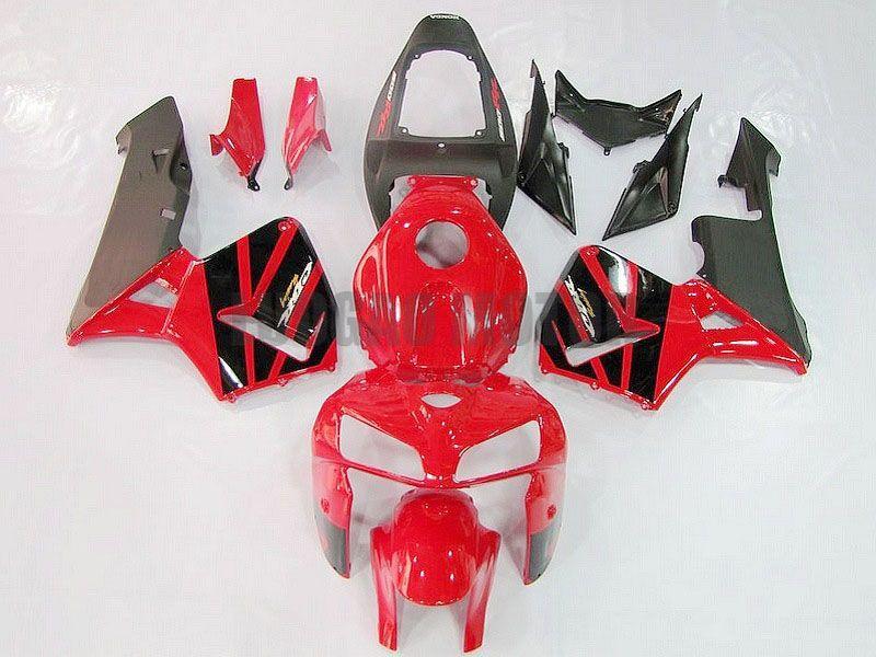 Presentes 100 bodykits% de injecção para Honda chama preto vermelho CBR600RR F5 2005 2006 carroçaria kit CBR 600RR CBR 600RR 05 06 carenagens kit carroçaria