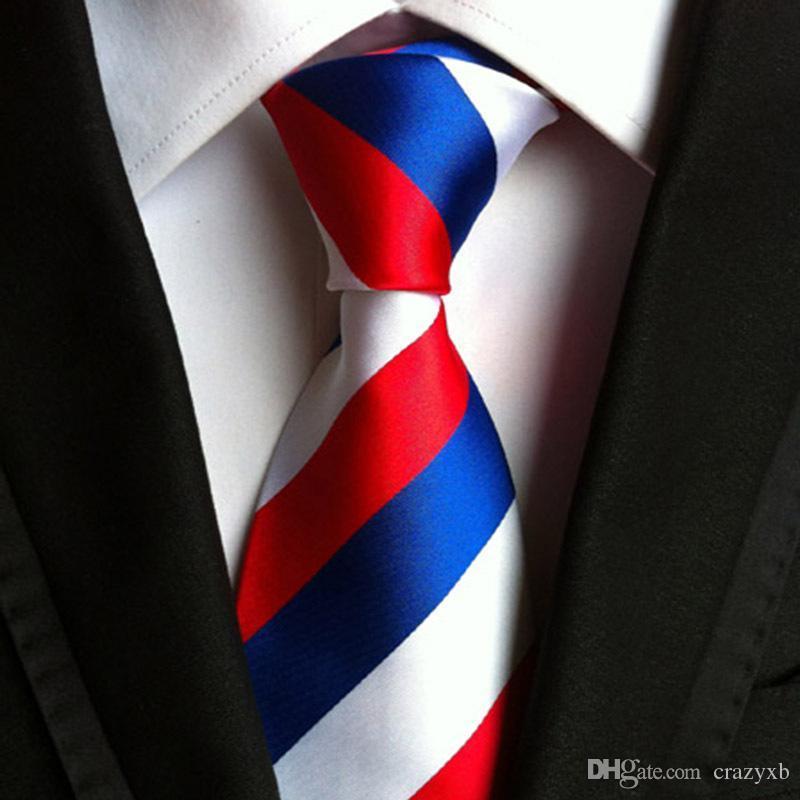 Cgjxs clásico 100% de seda lazos para hombre del nuevo diseño de la tela escocesa corbata de 8 cm Amp; Lazos rayados para los hombres de negocios del partido formal del boda Gravata