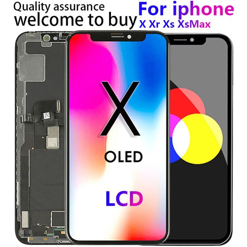 آيفون X العرض LCD استبدال قطع غيار الشاشات التي تعمل باللمس مع 3D تعمل باللمس محول الأرقام AMOLED للحصول على اي XR XS ماكس LCD لقد اخترت XSMax