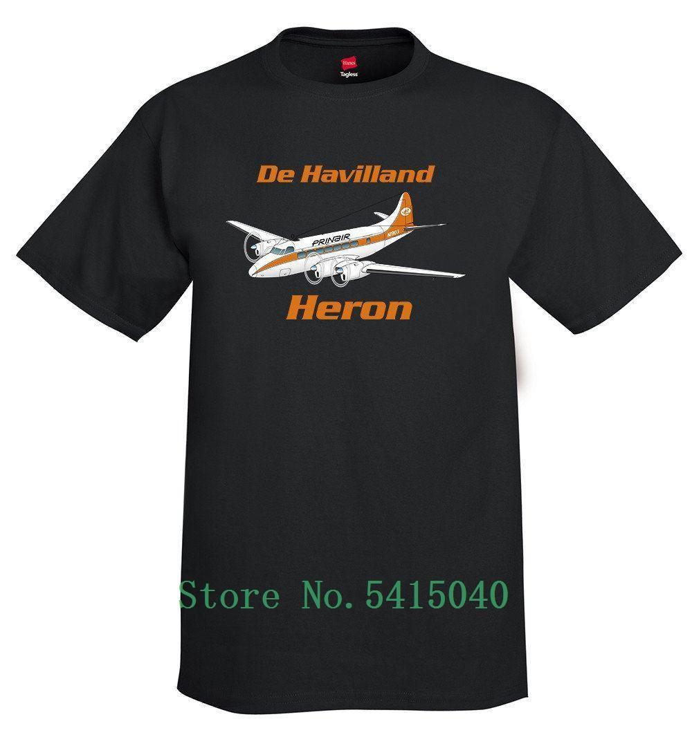 2020 Dernières hommes Mode personnalisé T-shirt Homme De Havilland 114 Heron-Dh Avion T-shirt - imprimé avec votre T-shirt