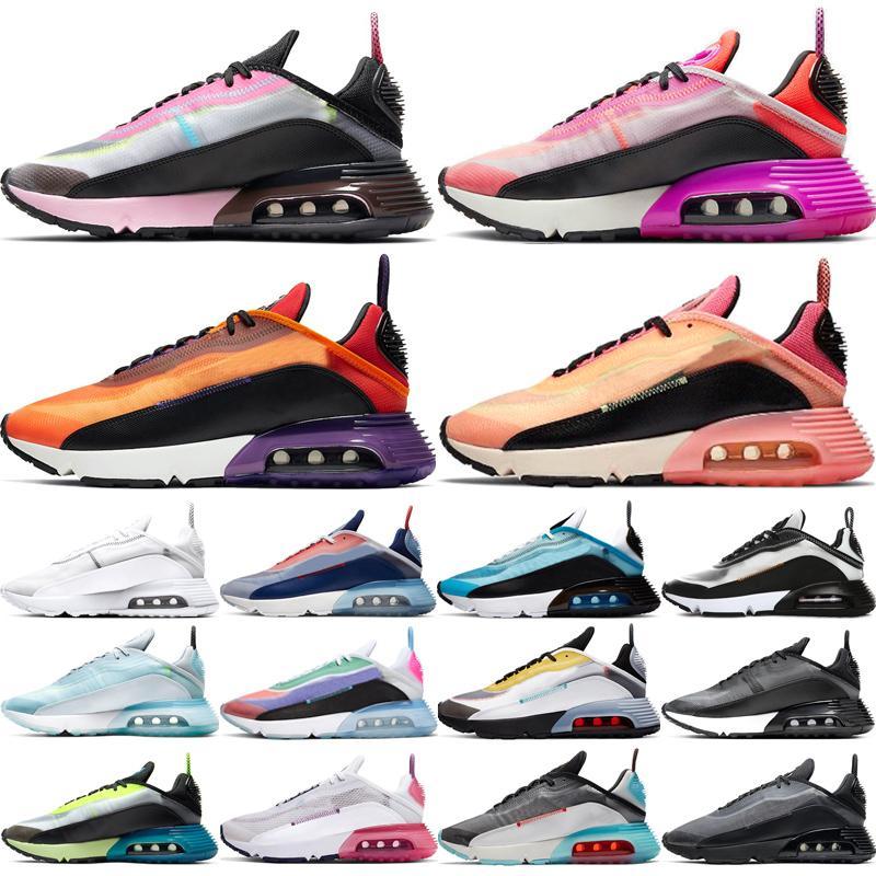 air max airmax 2090 Nuevo llegan los zapatos para correr Joyride para hombres mujeres Plantinum Tinte Oreo triples negros blancos INVICTO zapatillas de deporte entrenador
