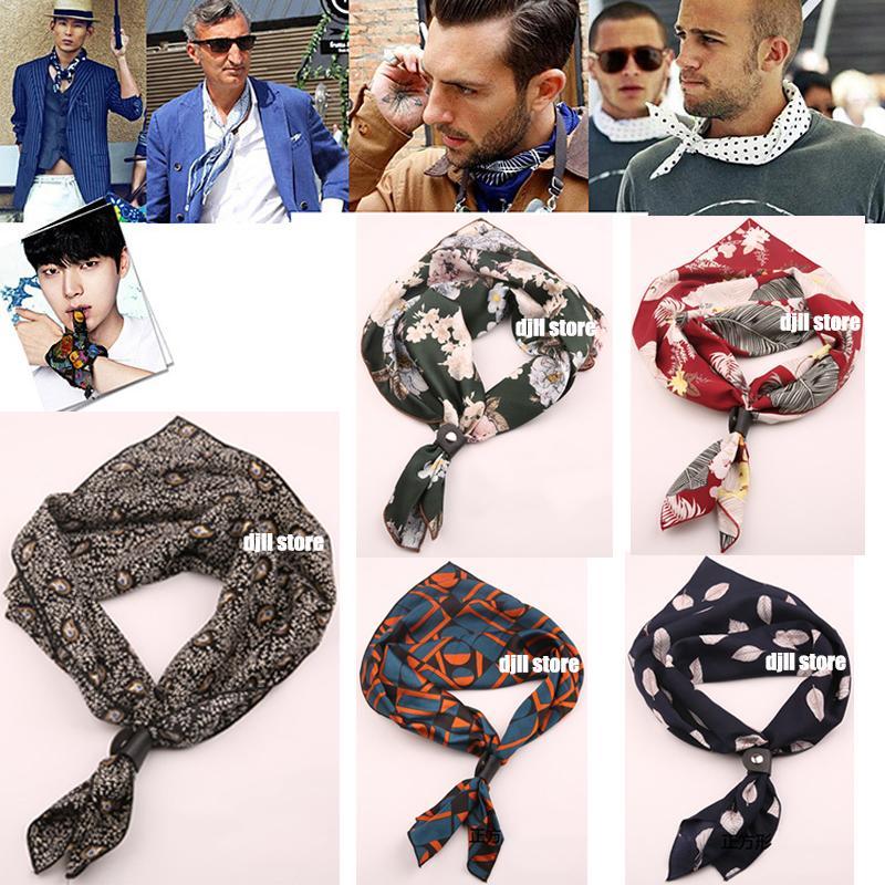 60cm Square Ties Cravats Scarf for Men Women Tie Accessories Neck Neckerchief Cravat Kerchief Headkerchief Head Unisex Fashion Scarves Wraps