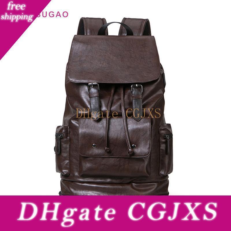 Pink Sugao Men Backpack New Fashion Large Travel Bags Outdoor Shoulder Bag Hot Sales Men Big Backpack Pu Leather Bhp