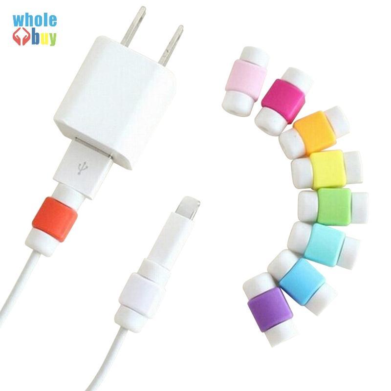 متعدد الألوان كابل USB حامي كم الهاتف المحمول شاحن الحبل حامي سيليكون لخط فون واقية سيليكون متعرج مقاطع