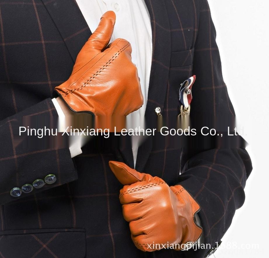 LRCpJ KU новый мужской натуральная кожа теплый ремонт мобильных Теплое и телефон вождения овчины перчатки ручной резьбонарезной перчатки DCE001