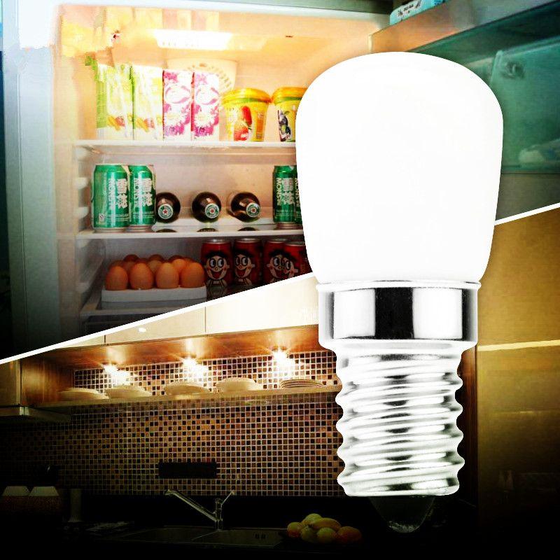 Lampadina Frigo LED E14 3W Frigorifero Corn CA bianco della lampada 220V LED / caldo SMD2835 bianco Sostituire alogena Lampadario luci