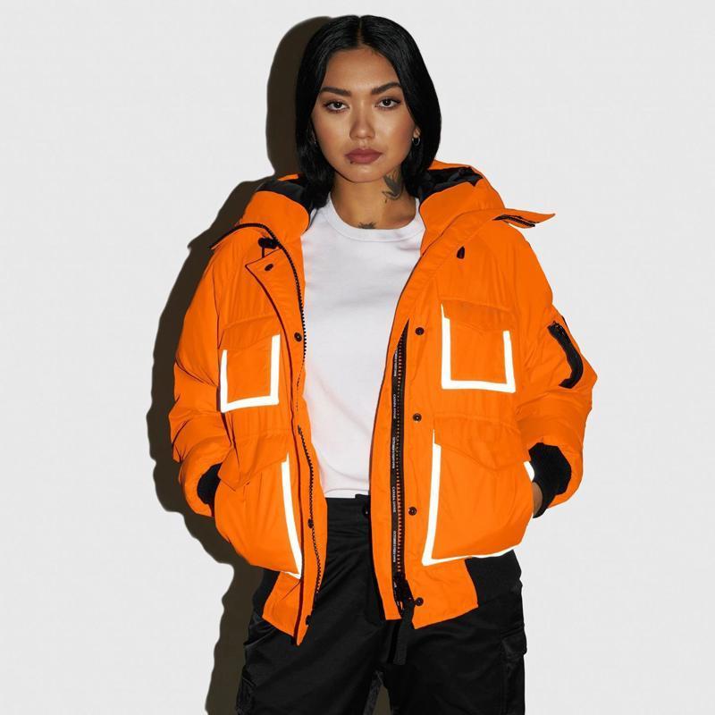 venta caliente caliente 20FW de gama alta con capucha chaquetas de invierno al aire libre a prueba de viento Abrigos Hombres Mujeres Pan corto por la chaqueta Outwear la calle