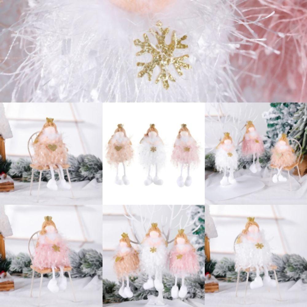 Ev için Claus Kardan Adam Yeni Santa Ana Doll Süsler kolye Noel ren geyiği Yıl Hediye Regalos De Navidad için gyvRR Dekorasyon