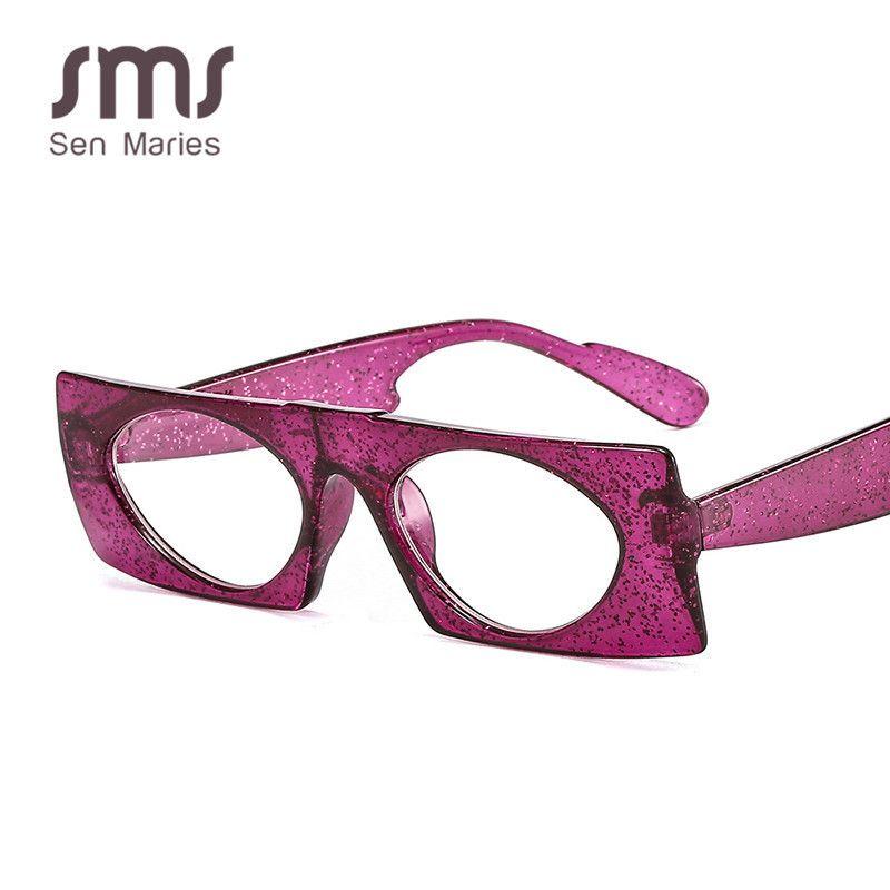 Sen Maries Vintage-Quadrat-Sonnenbrille-Frauen Retro Rechteck-Rahmen Sonnenbrillen Schwarz Rot flacher Spiegel Weiblich Männlich Brillen Oculos