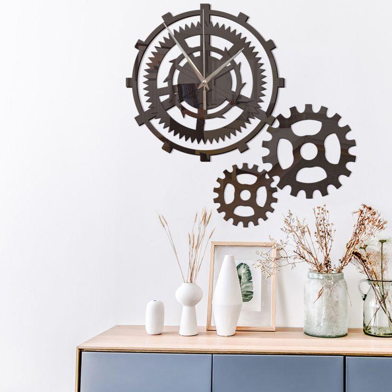Classic Vintage Wall Clock Retro Hanging Clock Roman Numeral Horologe European Style Decor