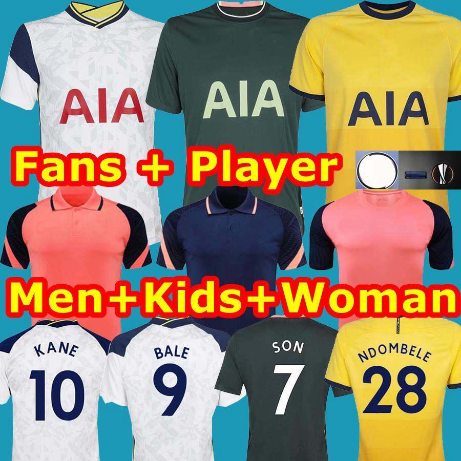 Tottenham 20 21 BALE 9 KANE Bergwijn Morgan camisa de futebol estimula Mulher POLO 2020 2021 camisa de futebol DELE SON NDOMBELE kit uniformes homens crianças