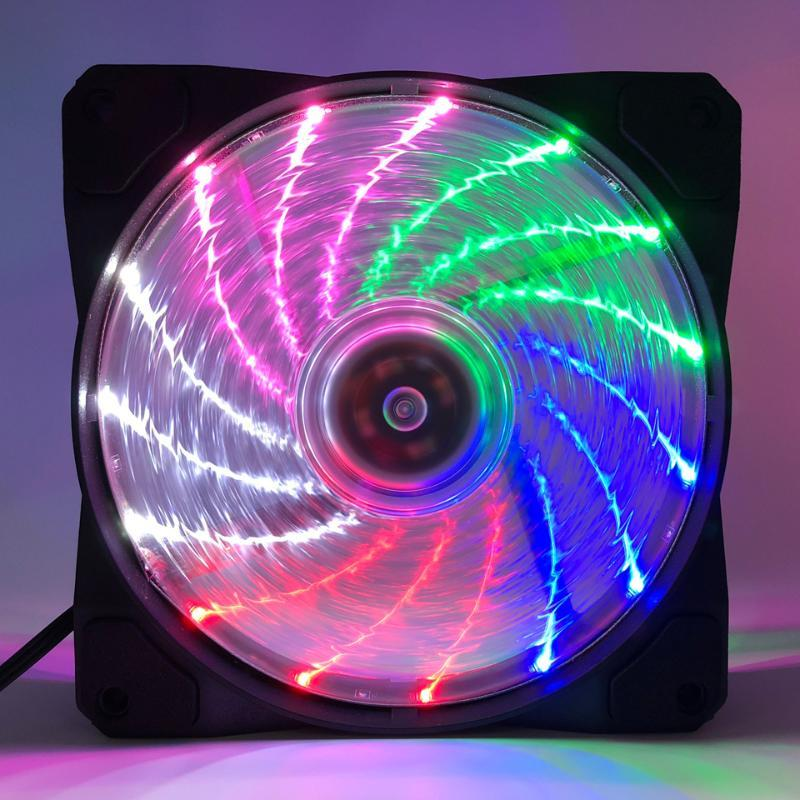 TOP F12025 120mm PC Cooling Fan Quiet RGB Fan Cooler Desktop Connector 12V for Computer Case/ Power Supply