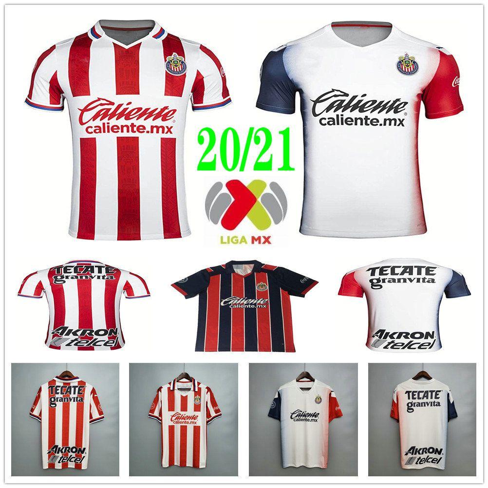 2020 2021 Chivas Guadalajara Soccer Jerseys J.Pereira O.Pineda a.pulido E.Lopez Custom Home Away erwachsene Kinder Frauen Männer Fußballhemden