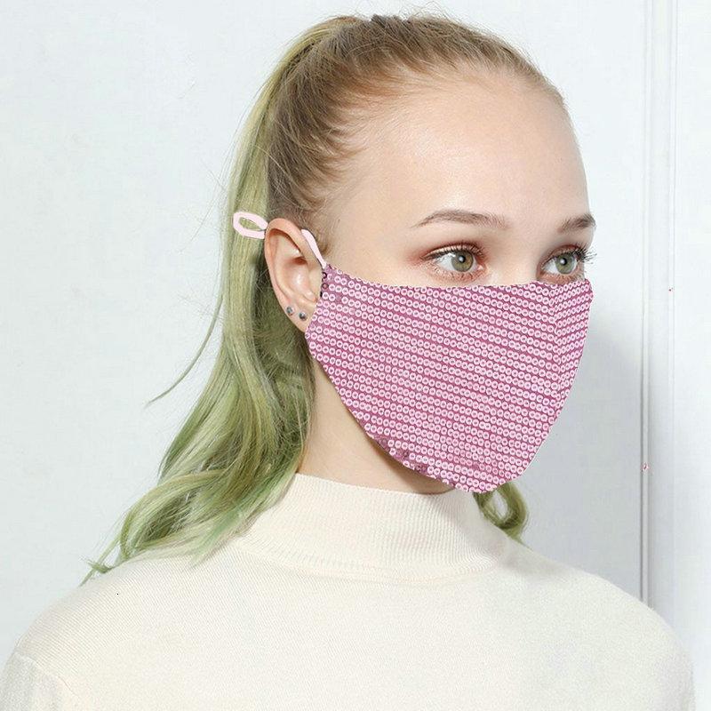 2020 Salon Lady Mode Visage Blingbling Paillette Paillette Designer de luxe Masque lavable réutilisable adulte Mascarillas protection Corde réglable