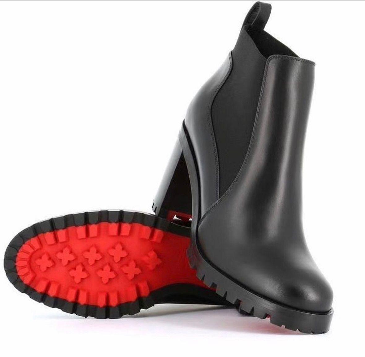 Popüler Tasarımcı Marchacroche Bilek Boots Kadın Kırmızı Alt Boots Lug Sole Ünlü Markalar yeni Kış Moda Patik Ucuz Ayakkabılar