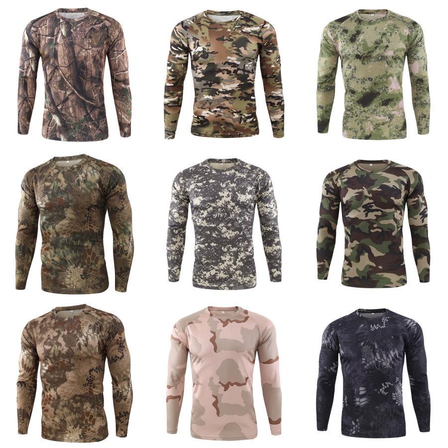 Tops Mode Contraste Slim couleur T-shirts pour hommes Designer O-Neck T-shirts manches longues pour hommes # 473