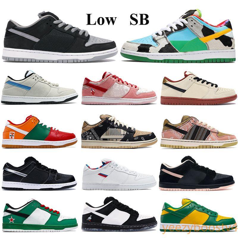 Düşük SB Casual ayakkabılar Dunk Erkekler Kadınlar Eğitmenler dunky yanlısı muslin siyah Travis Scotts spor ayakkabı kamyon onu Sevgililer Günü Sneakers tıknaz gölge