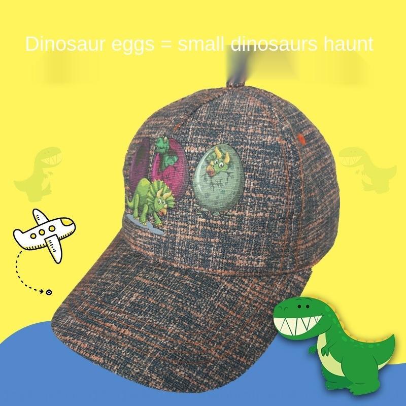 cappello animale ricamato di baseball ricamato DfWLg Stampato uovo di dinosauro carino uomini cappello studente berretto da baseball della protezione del fumetto alla moda per bambini e w