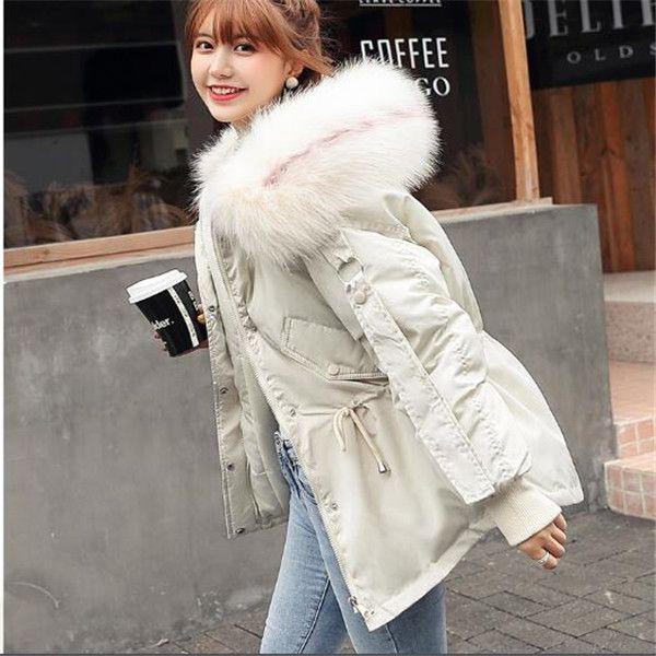 breve collo di pelliccia 2020 di inverno nuova donna giù parka giacca imbottita pane sciolto giacca di cotone giacche