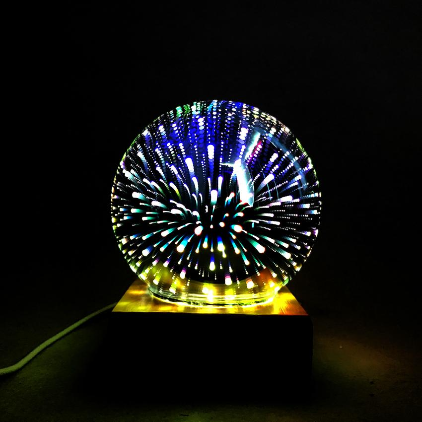 Magic Ball Colorful glass ball lamp 3d Starry Sky Star Butterfly Night light kids Bedroom Decoration Christmas light gifts GGA3711-3