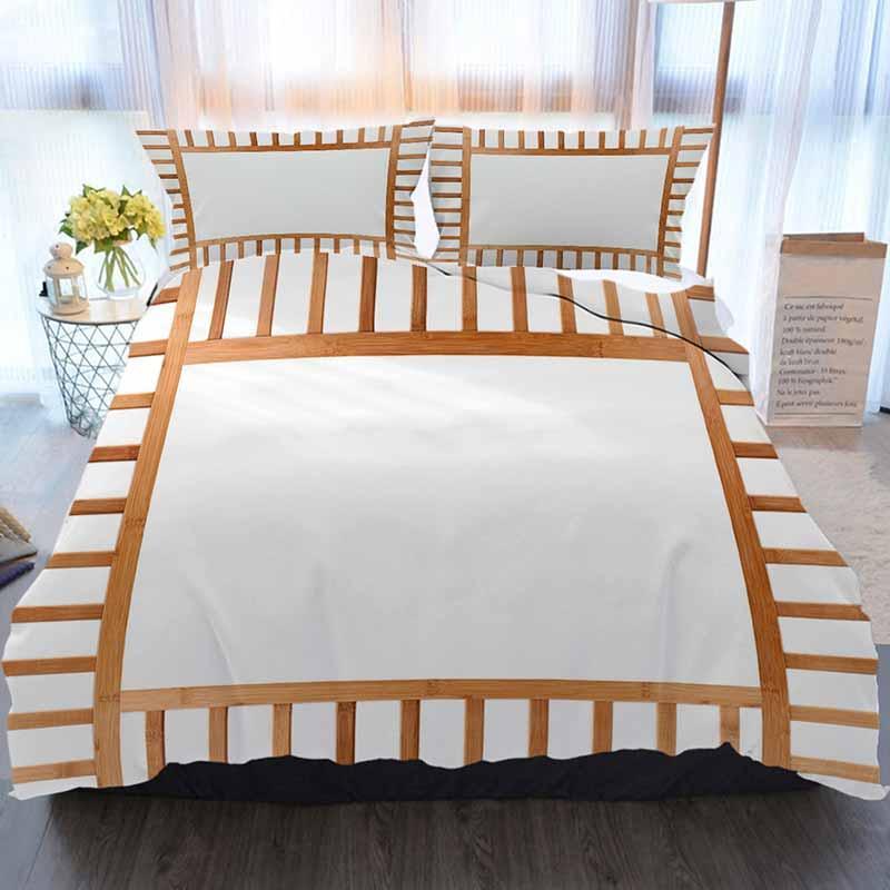 Бамбук Постельные принадлежности 3 шт Пододеяльник наборы, бамбук кадр с Китайский стиль фона Изолированные, Home Luxury Soft Duvet Утешитель Обложка