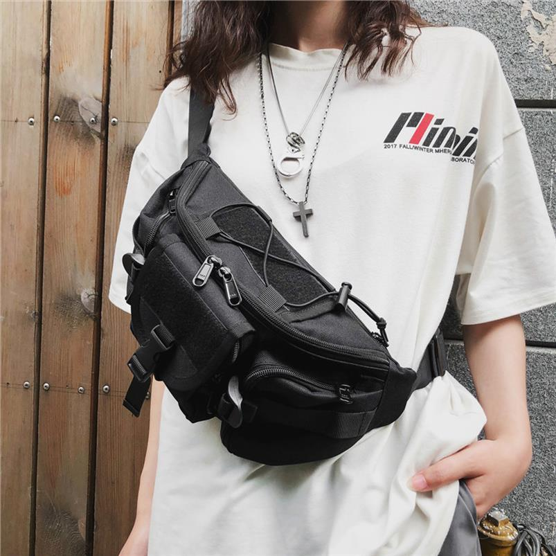 Homens Tactical Funcional Hip Hop Streetwear Bolsa Harness Chest Rig Bag Unissex Oxford Pockets Mulheres cintura Bloco de Fanny