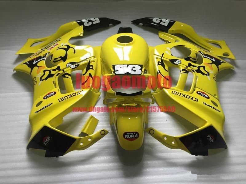 Verkleidungen für Honda gelb und schwarz CBR600 F3 1997 1998 cbr600 f3 Teile CBR600F3 97 98 CBR 600 F3 Cowling Aftermarket Fairing Kit + Geschenke