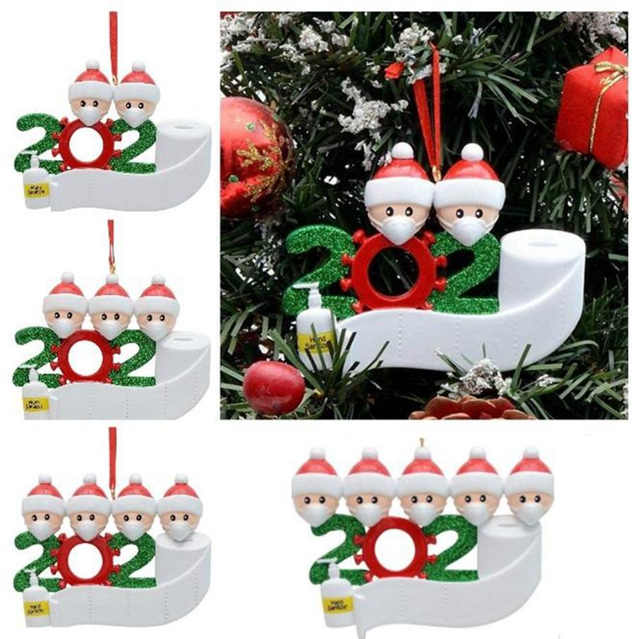 2020 Quarantine Weihnachten Geburtstage Partydekoration Familie von 2 3 4 5 Ornament Pandemie Social Distanzierung Handdesinfizierer DDA522