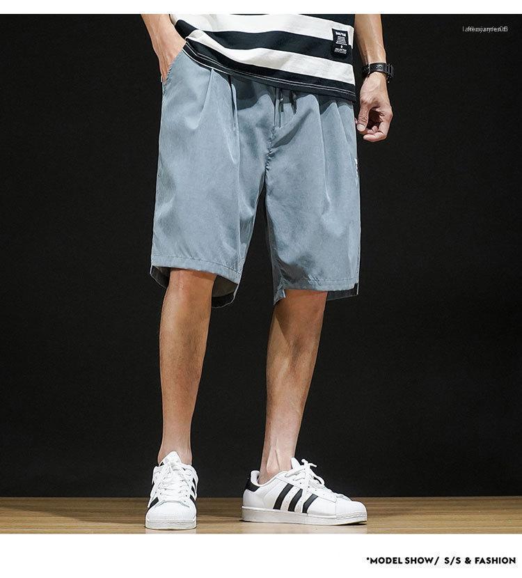 Breathable Solid Color lose Mens Shorts beiläufige Art und Weise Sommer neue Mens Designer Sommer Kurzschluss-Hosen Entspannt