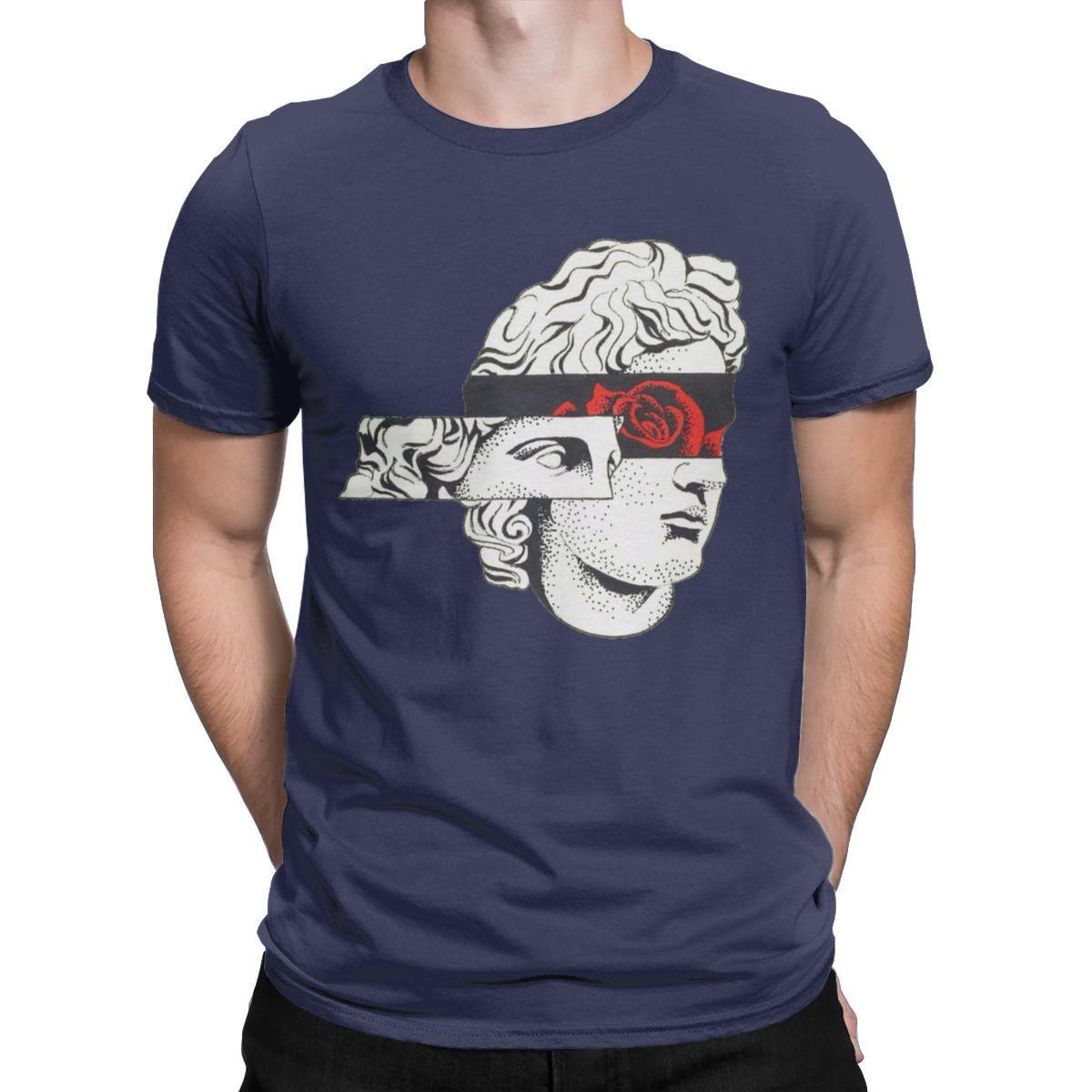 Мужчины Футболки David Michelangelo Eyes Vintage 100% хлопок тройники с коротким рукавом футболки круглым воротом Одежда Graphic Плюс Размер