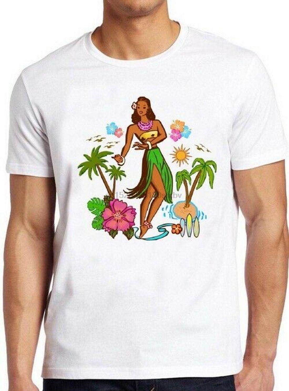 Hula Girl Tops T Camisetas Hawaiian Surf Vela Náutico Aloha O presente fresco do T 115 T-shirt da forma fresco