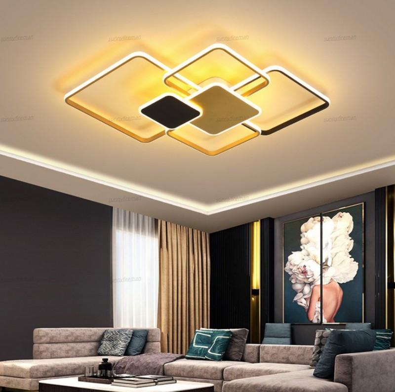 New moderna levaram luzes do candelabro para o quarto Sala Foyer Acrílico superfície montar Home Lighting Chandelier Lamp Luminaries