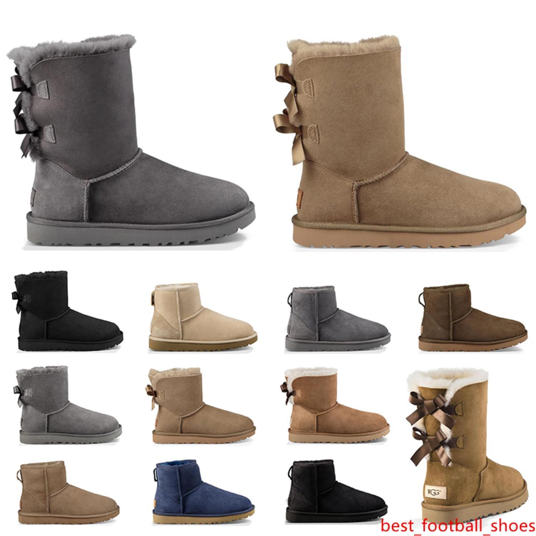 Nuevo diseño clásico de las mujeres Australia botas para la nieve bota del tobillo arco corto de la piel para el invierno de las mujeres zapatos de invierno castaño tamaño 36-41