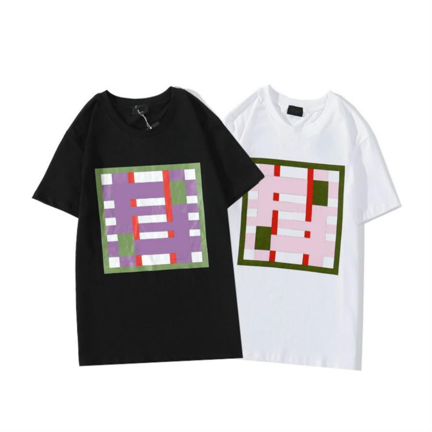 2020 남성 T 셔츠 여름 캐주얼 남성 패션 편지 스트라이프 패턴 셔츠 남성 통기성 최고 티 고품질 남성 의류 S-2XL