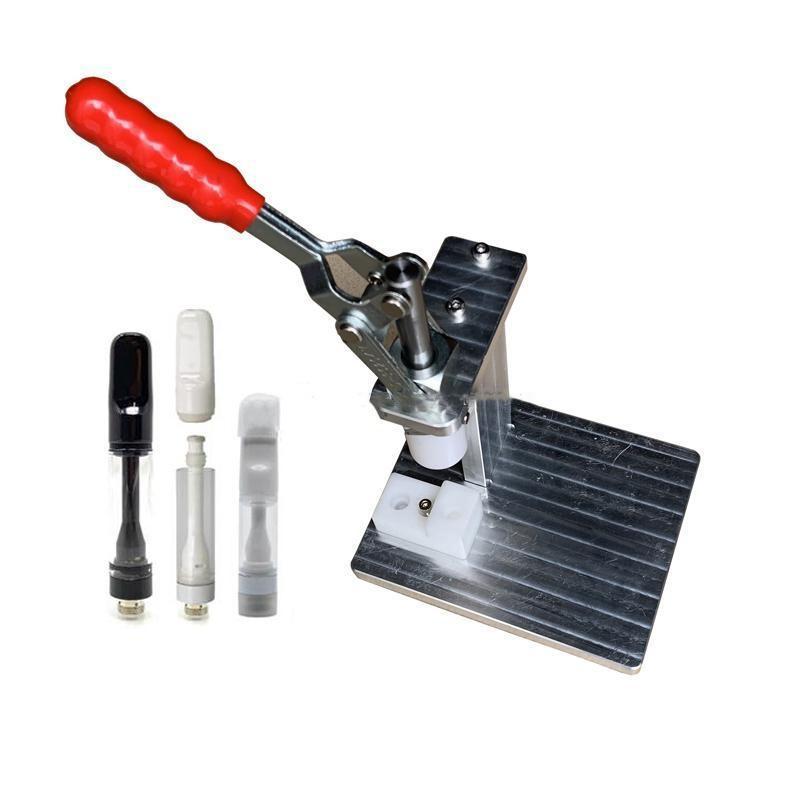2020 휴대용 수동 프레스 머신의 경우 전체 세라믹 카트리지 (510) Vape 펜 두꺼운 기름 일회용 분무기 압착기 압축기