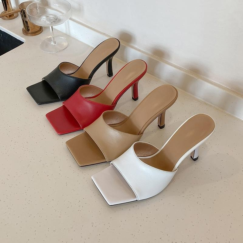 MONMOIRA Vintage place talon haut d'orteil Sandales Femmes solides Chaussures ouvertes Slipper Sandales d'été Chaussures Designer Femmes SWC0824 Y200620