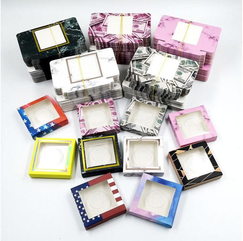 Square Empty Paper Box Clear Plastic Sheet Cosmetic Containers Without Mat Eyelash Packing Case Bardian Gift Packaging Decoration 1 2yea G2