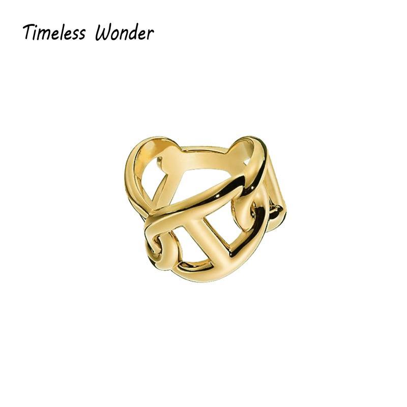 Timeless Wonder Stunning Pig Nose Twist Impilabile anelli gioielli delle donne punk gotica del cocktail Ins progettista della pista di Top Rare 3637