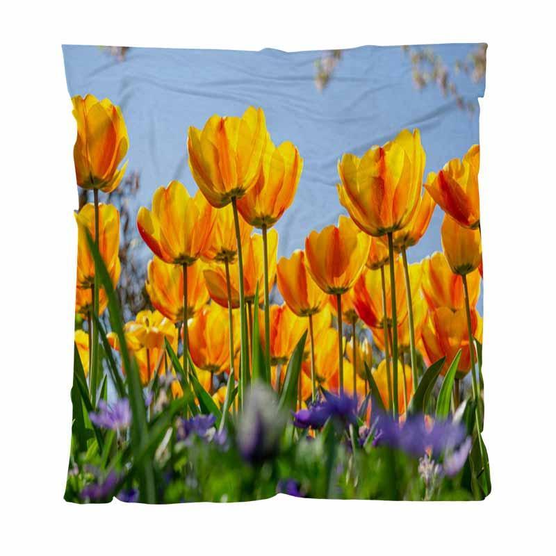 Landschaft Startseite Decke Mode Brief gedruckt Decken Landschaft Von Niederlanden Tulpen mit weicher bequemer Multifunktionsdecke