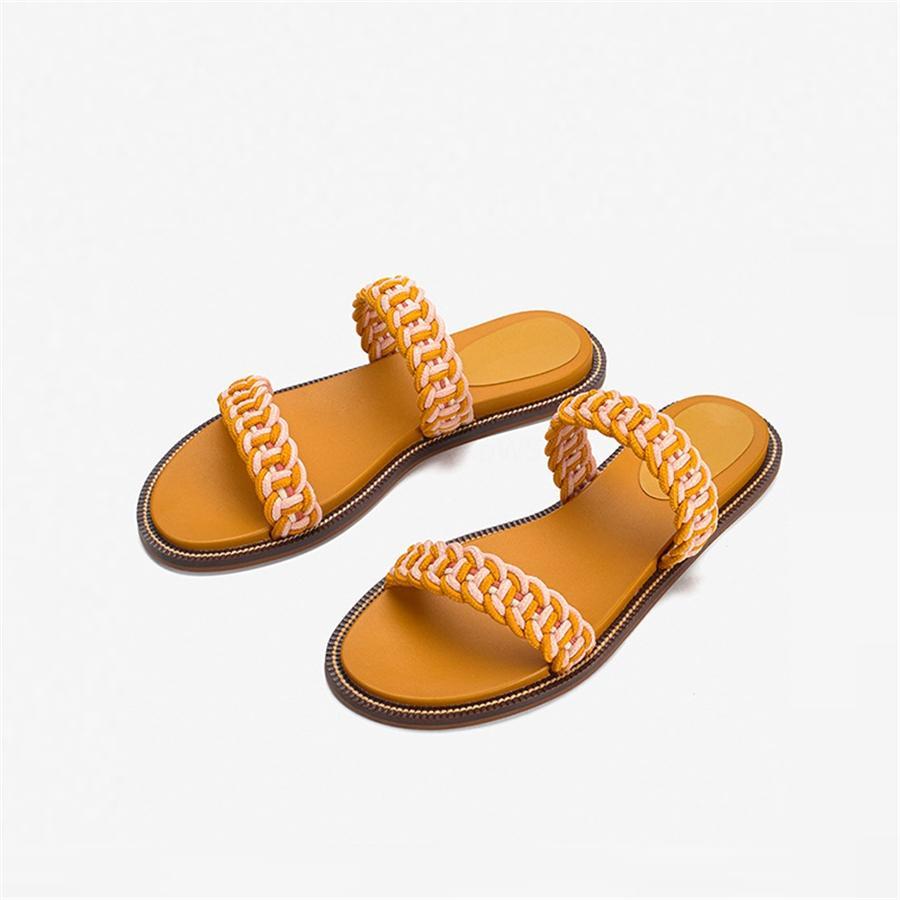 Damenschuhe Sandalen High Quality Heels Pantoffel Huaraches Flip Flops Slipper Schuh für Slipper Shoe02 PL1603 # 403