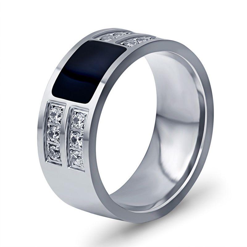 горячей продажи моды рука аксессуар из нержавеющей стали мужские кольца с камнем циркония