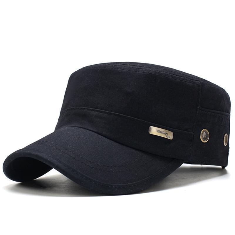 남성 여름 육군은 조정 봄 야구 패션 클래식 코튼 플랫 모자 야외 광선이 통하지 못하는 캐주얼 캡