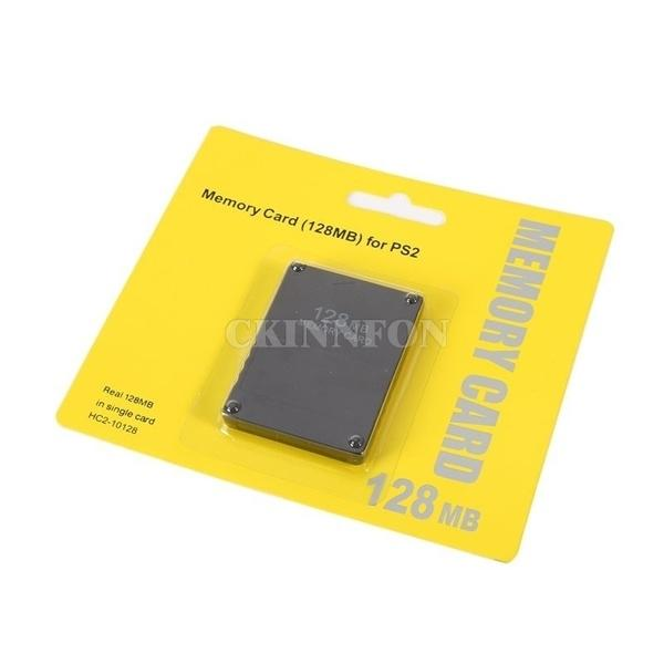 200pcs/lot 128MB Memory Card Save Game Data Stick Module For Sony PS2 Playstation 2 128m Extended Process Saver