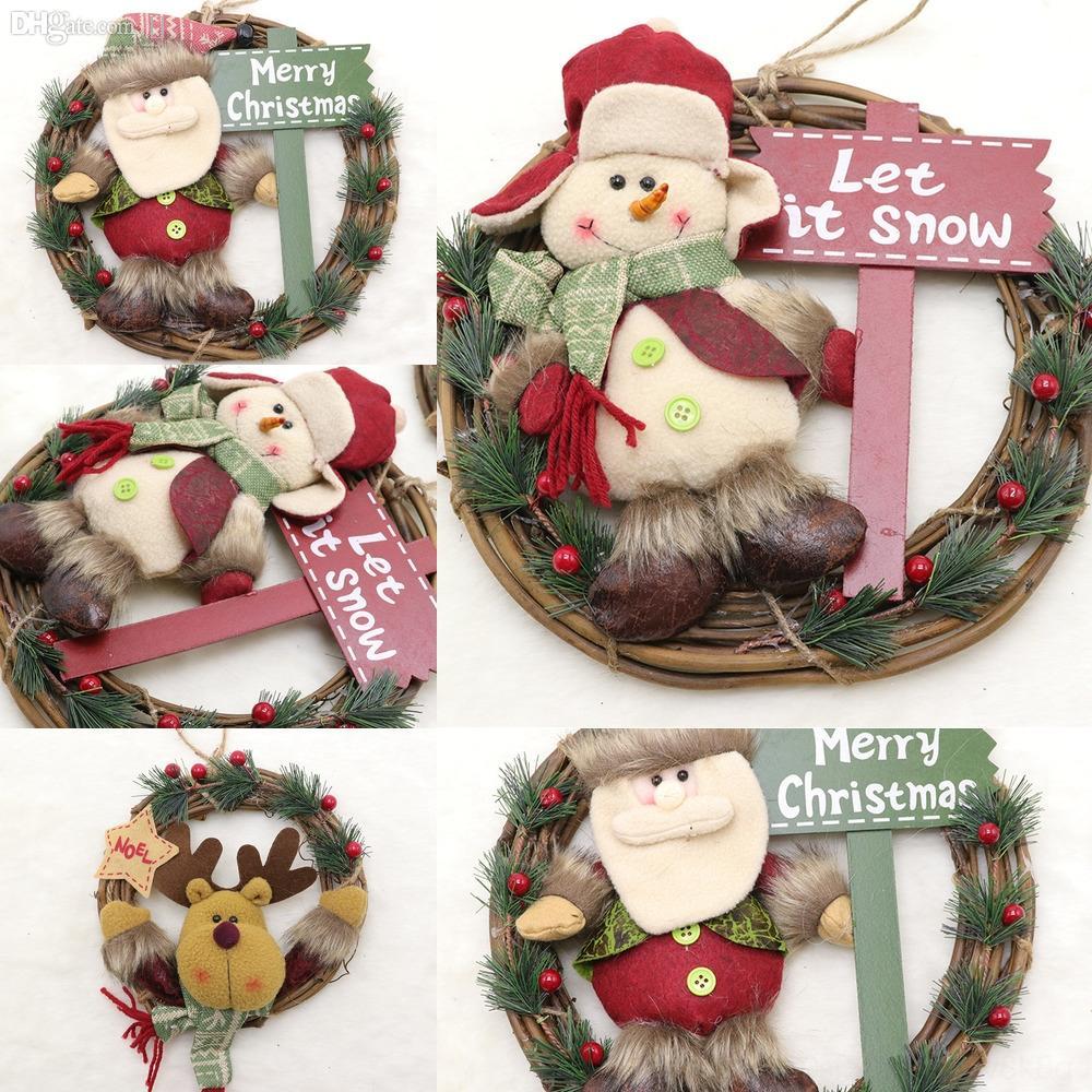 5TiuM CS Arbre de Noël de fête de Noël Décoration Chips Hanging bricolage Décoration de Noël Ornements en bois Home Décor Party Decor