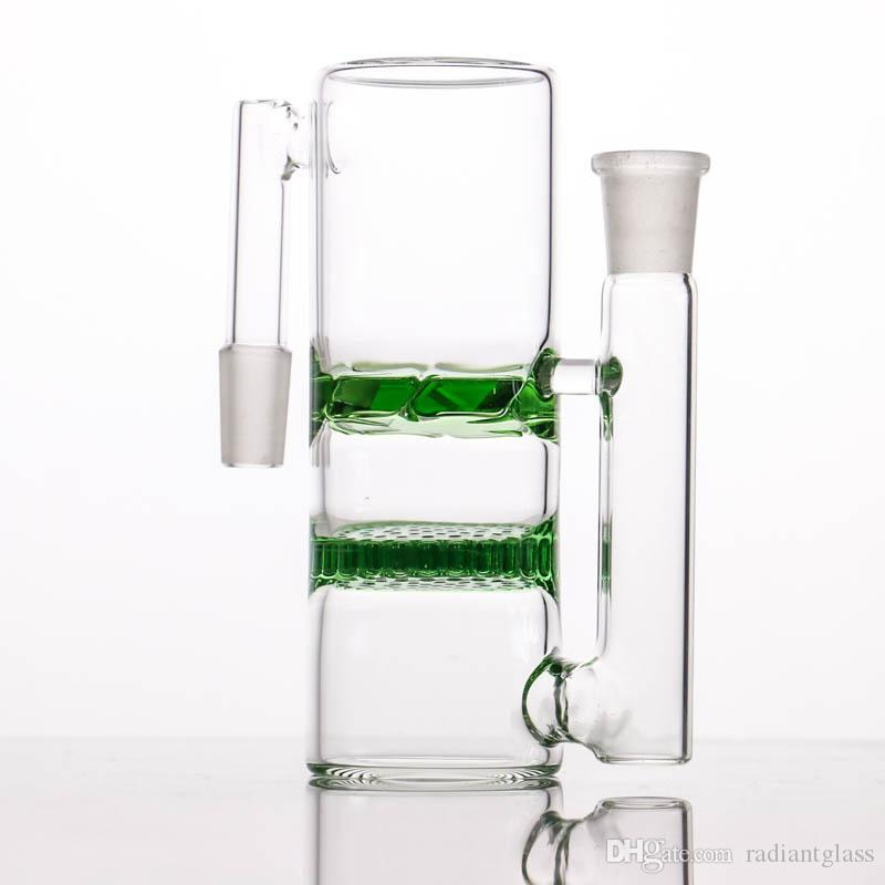 14-14 18-18 Glass ash catcher high quality honeycomb and turbine ashcatcher for glass bong water pipes