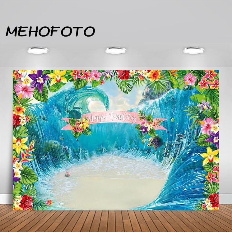 MEHOFOTO Luau Birthday Party Background Aloha Summer Party Banner Photo Booth Photography Backdrops Decoration