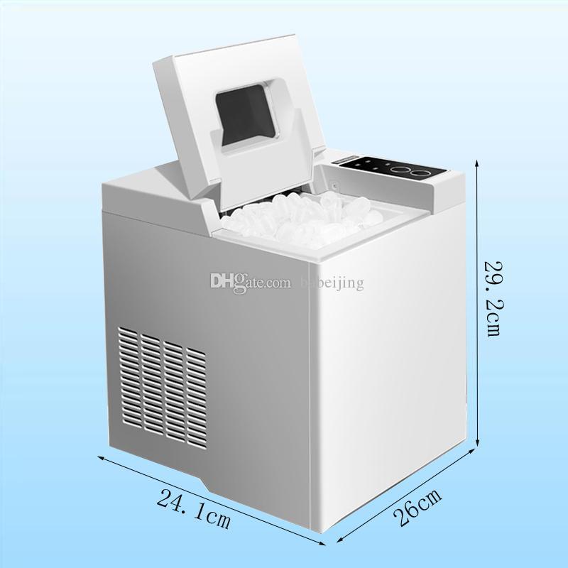 Usage domestique Maker Machine à glace portable pour Countertop, cubes de glace Prêt à 6 minutes Marque 6,5 kg, pour les Parties 110W