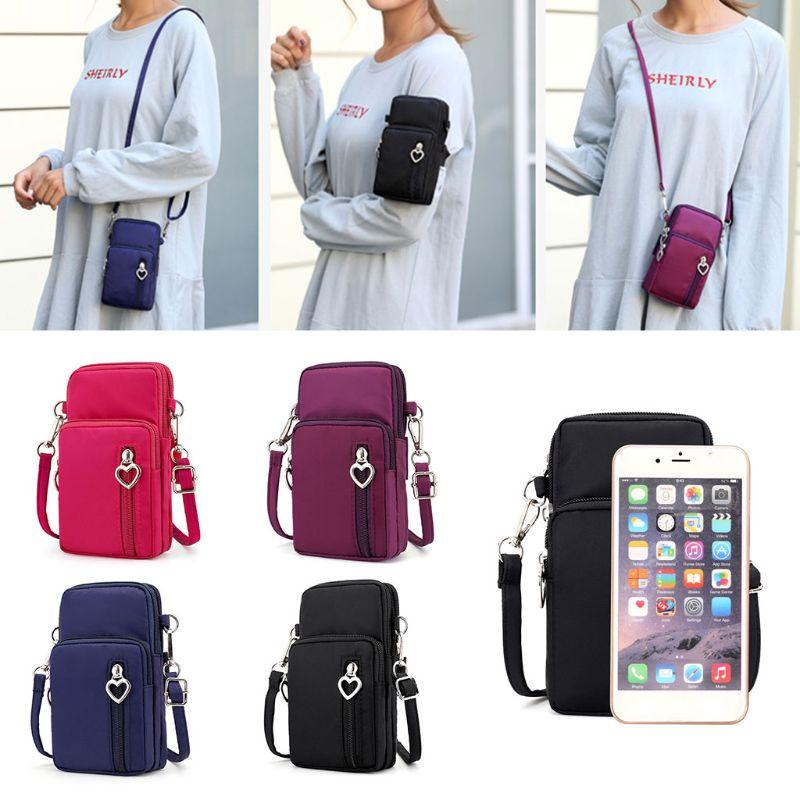Crossbody Ombro Mobile Phone Bag Pouch Case Belt Handbag Satchel Bolsa Carteira