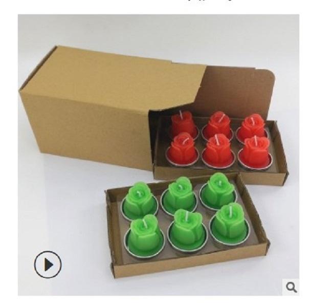 2020 heiße Verkauf kreative stieg Teelicht Simulation Pflanze fleischige Kerze Valentinstag Wachs Weihnachtskerzen 004